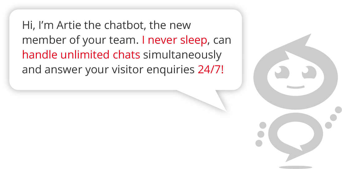 Chatbot AI system that can handle unlimited number of chats 24/7.