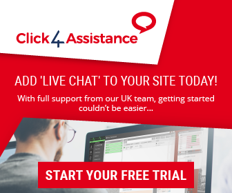 Try Click4Assistance live chat for small business free for 21 days.